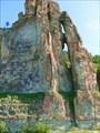 Фрагмент стены столбов