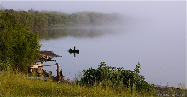 Река Камчатка и рыбаки