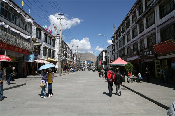Улицы Лхасы