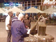 Ночной шахматный матч воронежских ветеранов-город Воронеж