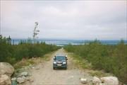 Вид на Умбозеро от ловозерского ГОКа
