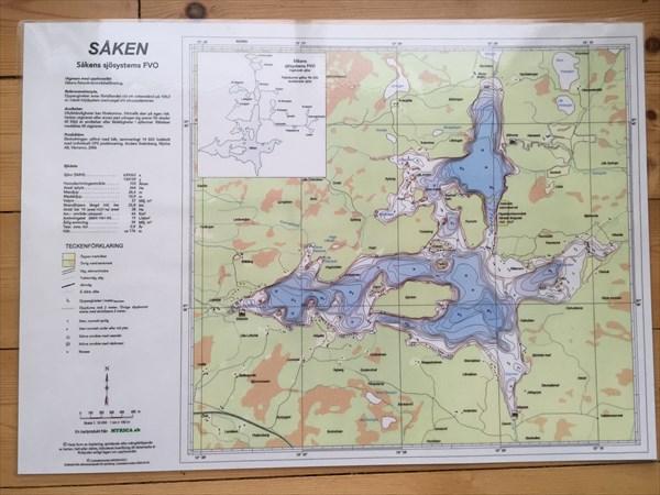 Карта озера Сален, на берегу которого мы жили