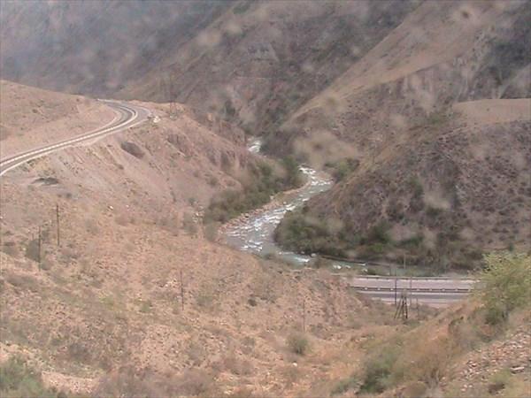 Вид с железки на автодорогу