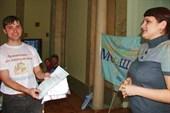 Награждение представителя призера из Новосибирска