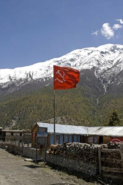 Один из штабов маоистской армии в горах Западного Непала