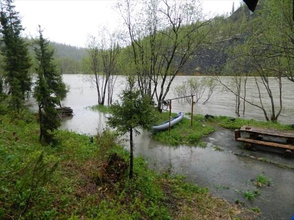 Домик художника, наводнение