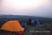 Восход солнца в лагере CMP08* на леднике Богдановича