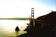 Мост Золотые Ворота 2-город Сан-Франциско