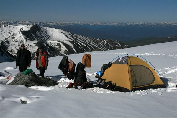 1 лагерь в ледниках