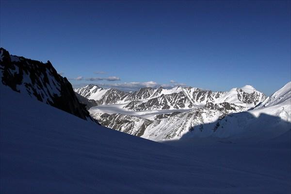 Вид на север с верхнего плато