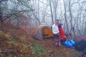 Наш лагерь вечером