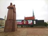 Памятник Латышским красным стрелкам и Музей оккупации Латвии
