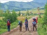 Фото 2.  Группа на старте, фотограф за кадром
