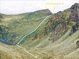 Фото 30. Вид на перевальный взлет со стороны оз.Дорошколь.