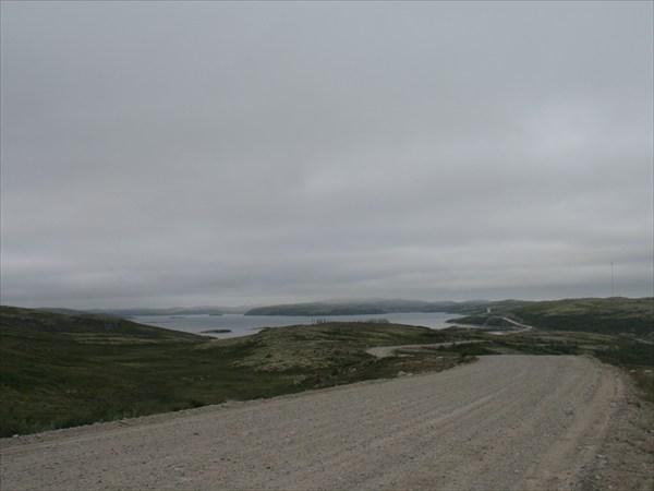 Вид на Верхне-Териберское водохранилище