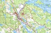 Карта окрестностей Хийтолы