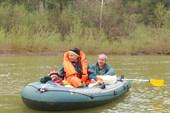 Экипаж лодочки - дядя Витя, Женя и Егор