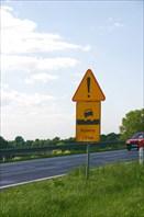 Дорожный знак в Польше