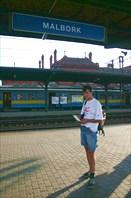 на платформе в Мальборке
