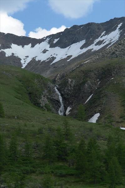 Снег на перевале.