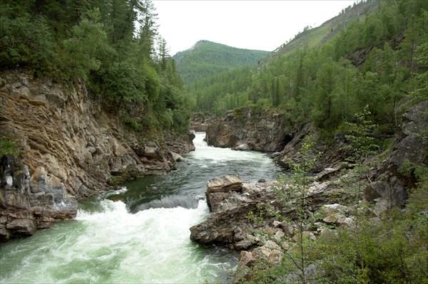 """Начало """"Верхнего каньона"""" до паводка."""