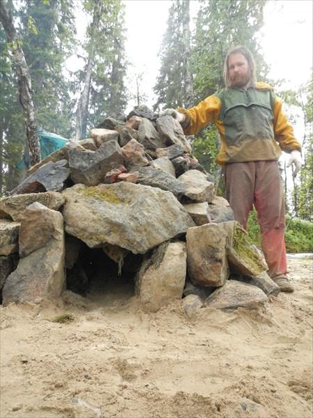 Лего конструктор из камней ,будущая баня