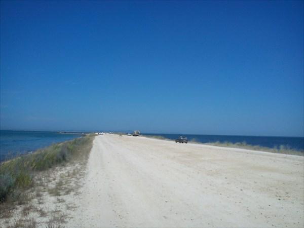 Таманский полуостров, на косе :)