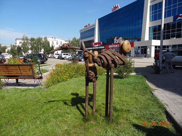 На улицах Усть-Каменогорска.