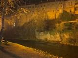 Крумловский замок 1240 вечером