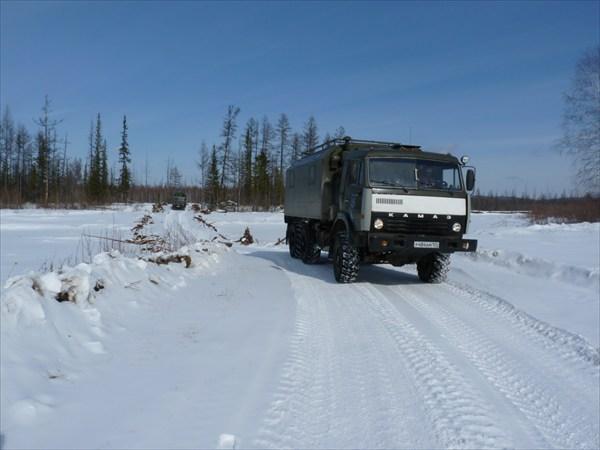 Редкий транспорт на зимнике