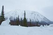 Вид от `Снежной деревни`