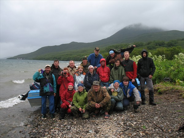 Камчатка. Наша группа на Курильском озере