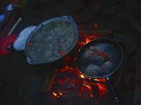 Камчатка. Ужин. Уха да жареная рыба