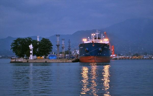 вечером в порту