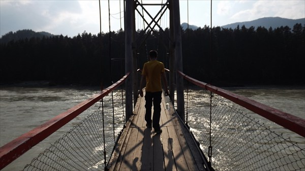 Подвесной мост у Царской охоты