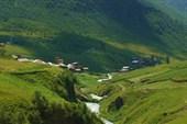 Сванетия. ущелье горы Шхара