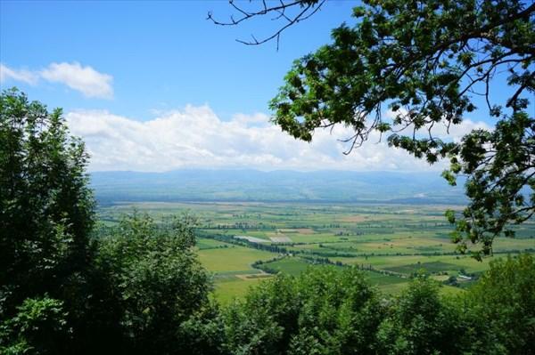 Вид на Алазанскую долину.