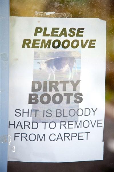 Пжлст, снимайте грязную обувь. Дерьмо чертовски трудно оттирать!