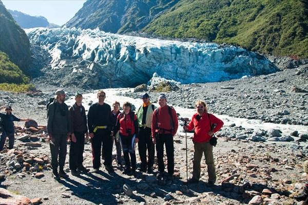 Вид на ледник Фокс. Пеший трек.
