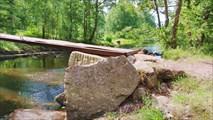 Металл. мост через протоку между Соколиным и Губановским озерами
