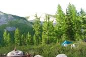 Уединенность нашей палатки.