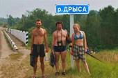 на мосту Краснополье-Слобода