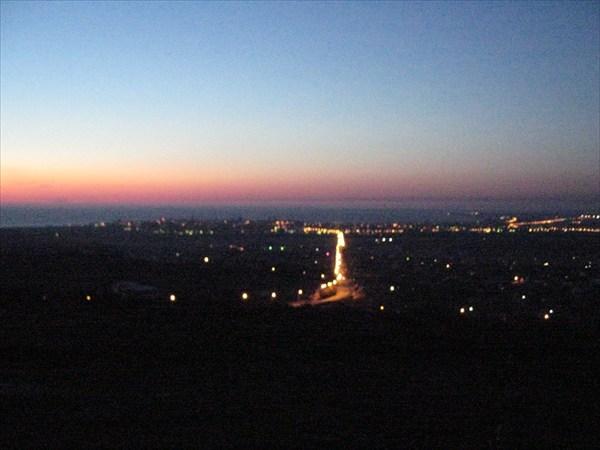 ночлег на горе с видом на море и Анапу