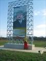 портрет Ахмада Кадырова при въезде в город