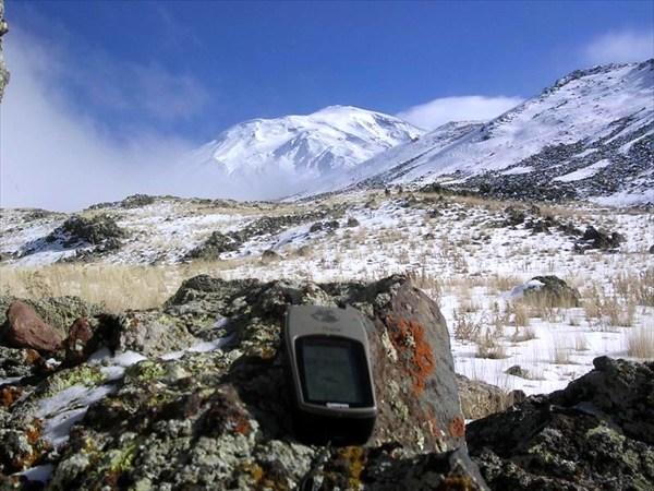 GPS и гора