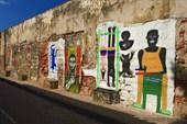 Уличное граффити. Картахена. Колумбия