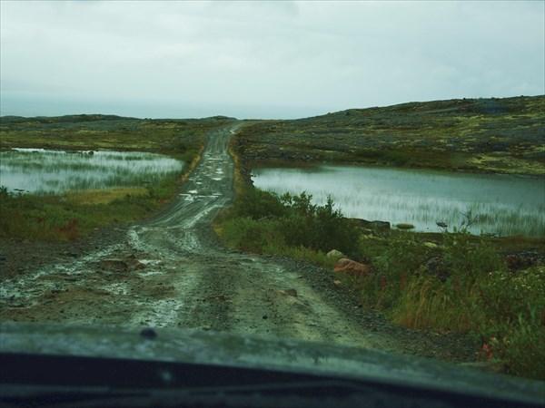 В дороге.