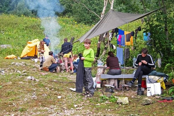 Лагерь на р.Водопадистый