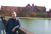 Замок. Вид с середины пешеходного моста