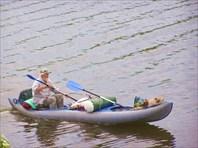 Один на реке...